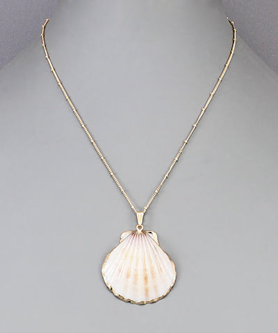 Clam Pendant Necklace - Shop House Market