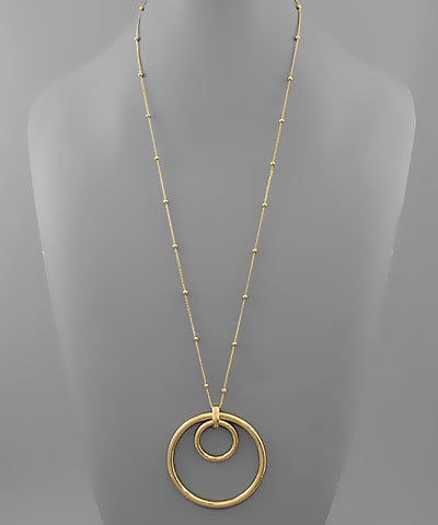 Double Circle Necklace - Shop House Market