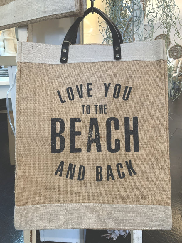 Market Tote - Love You Beach - Shop House Market