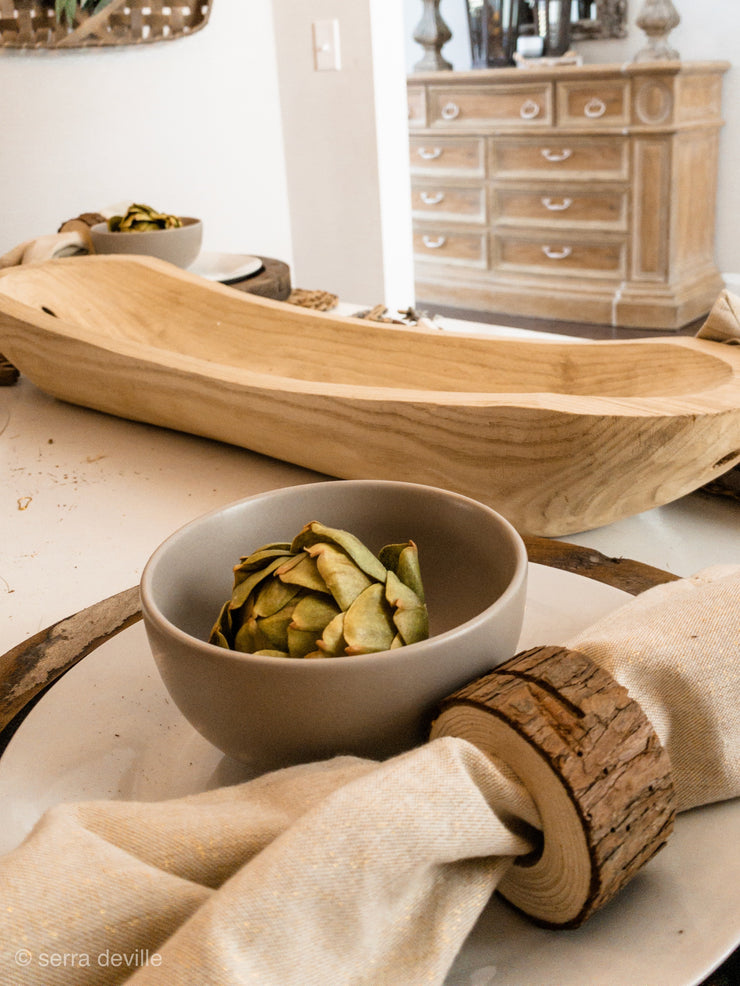 All American Oval Natural Dough Bowl - Shop House Market