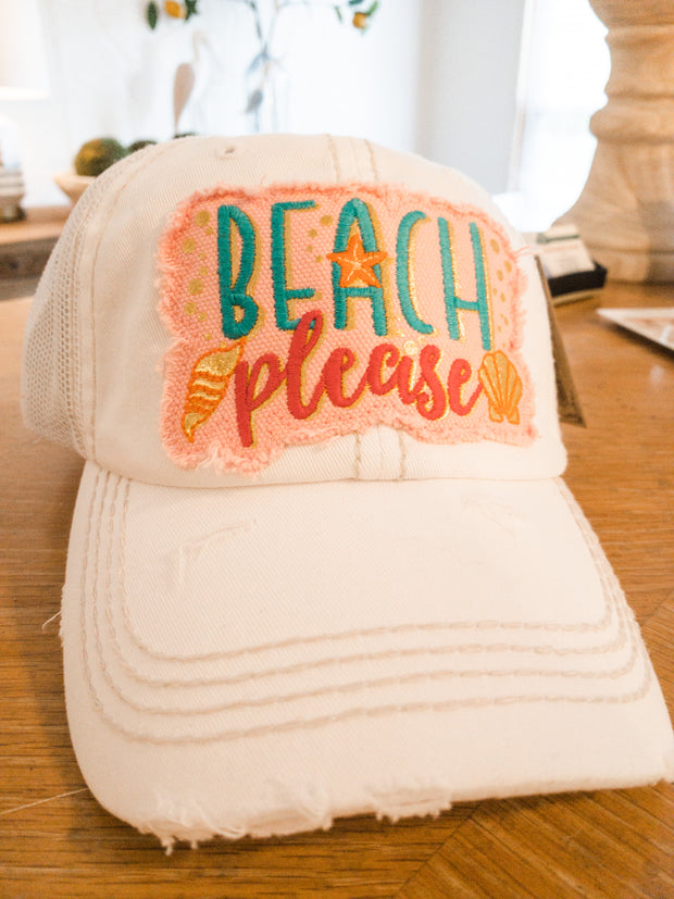 White Beach Please Hat - Shop House Market