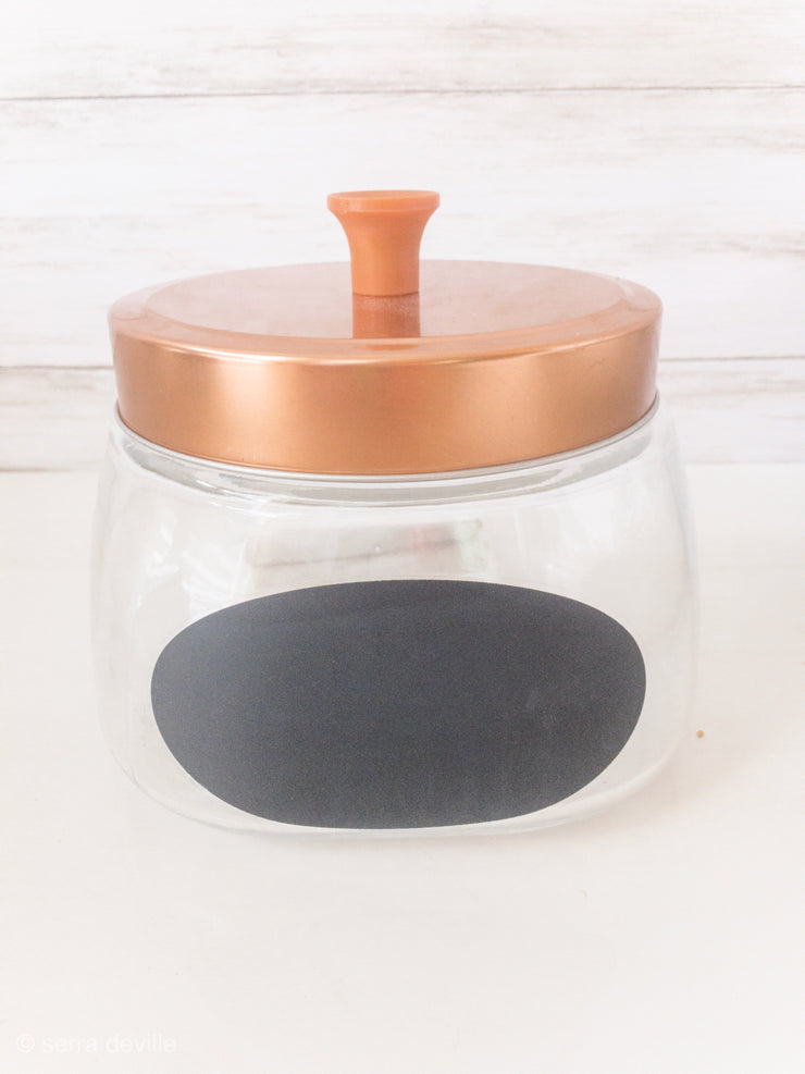 Metallic Lid Jar with Chalkboard - Shop House Market
