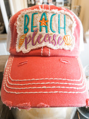 Pink Beach Please Hat - Shop House Market