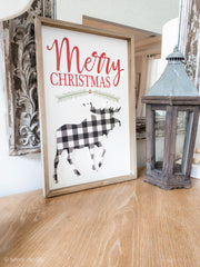 Merry Christmas Moose Picture - Shop House Market
