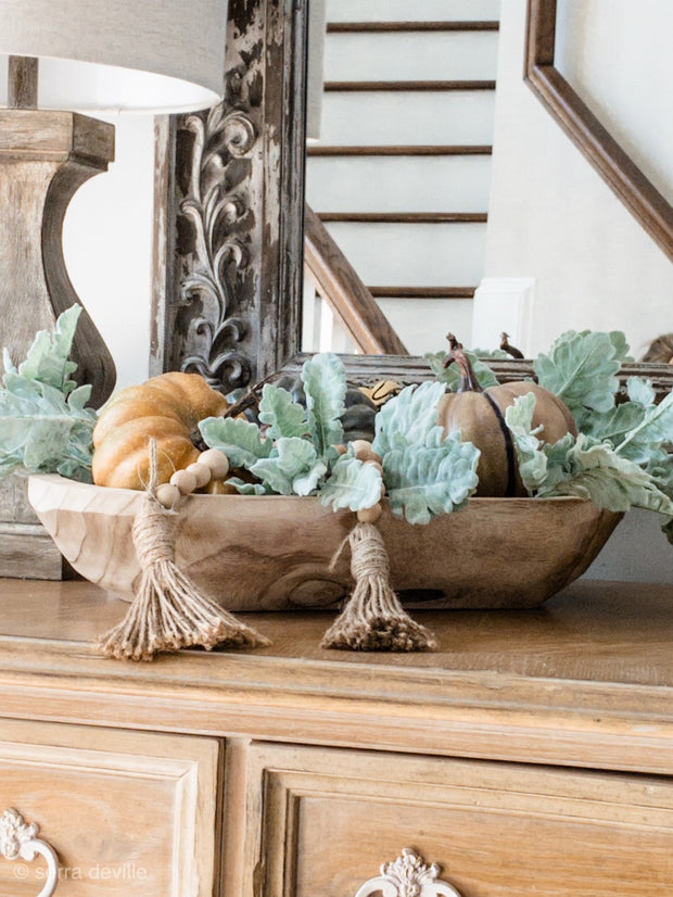 Farmhouse Wooden Dough Bowl - Shop House Market