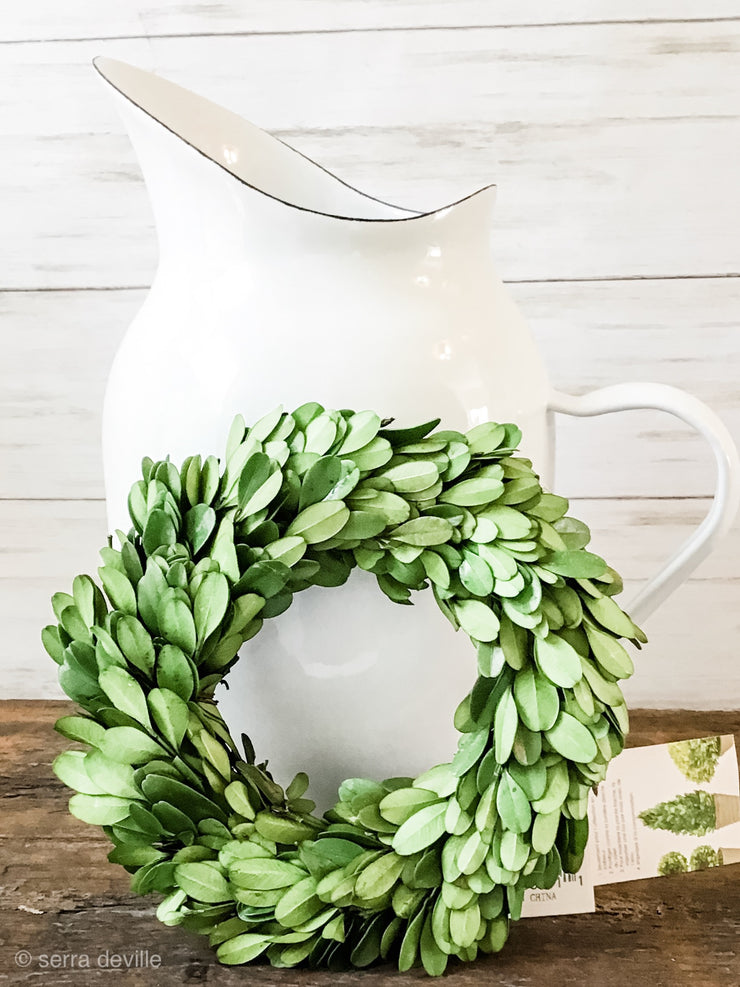 "Boxwood Wreath 6"" - Shop House Market"