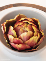 "3"" Dia Green and Burgundy Artichoke - Shop House Market"