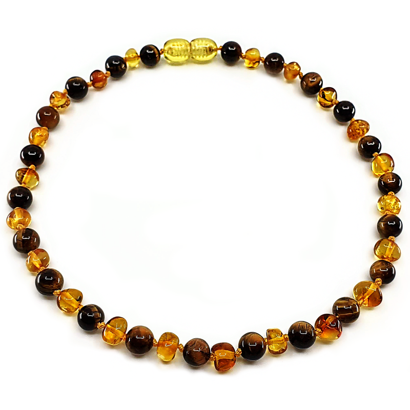 Cognac amber with Tiger Eyes