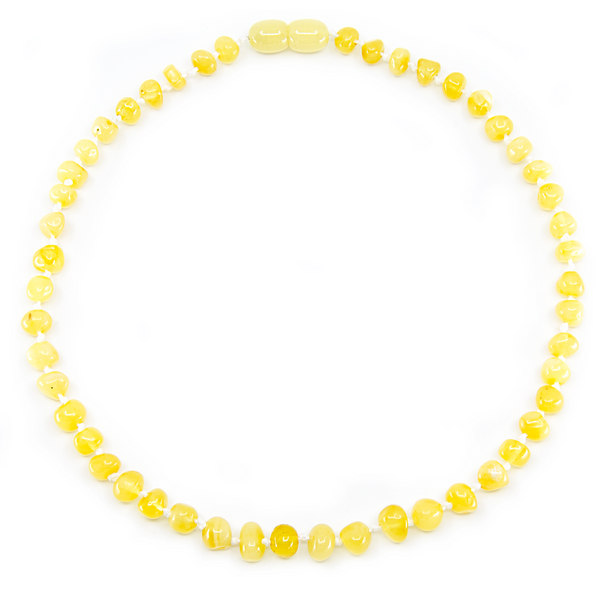 Milk baroque Baltic Amber Necklace Bracelet Set