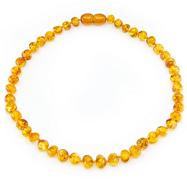 Honey baroque Baltic Amber necklace & bracelet set
