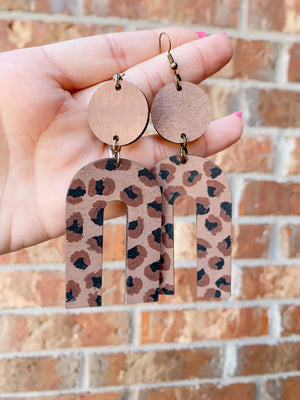 Leopard Arches (Adult Earrings)