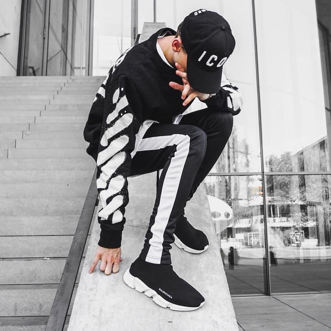 RETRO PANTS - BLACK / WHITE-DSRCV