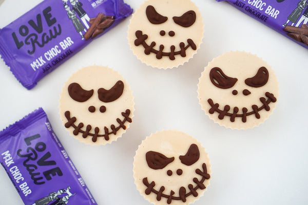 Spooky Mini Peanut Butter Cheesecakes
