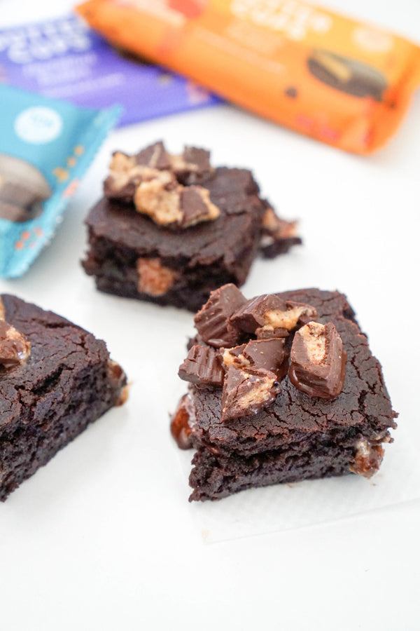 Gooey Peanut Butter Brownies
