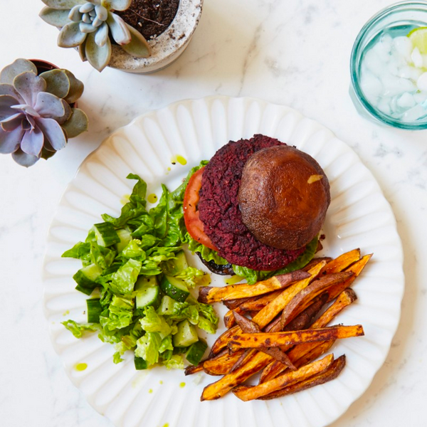 Beet Burger with Portobello Buns