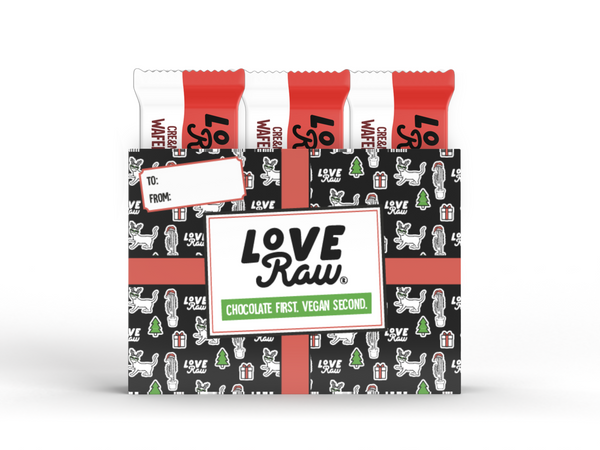 LoveRaw Vegan Christmas Chocolate Cre&m Wafer Box