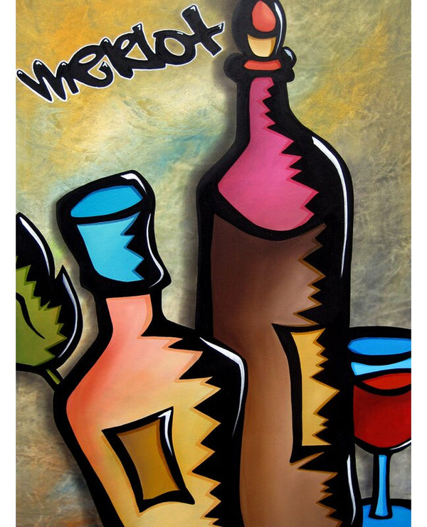 'Wine Tasting' by Tom Fedro Painting Print on Wrapped Canvas