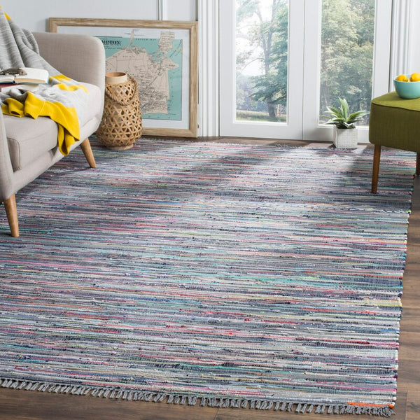 Failla Cotton Aqua Area Rug - 4' x 6'