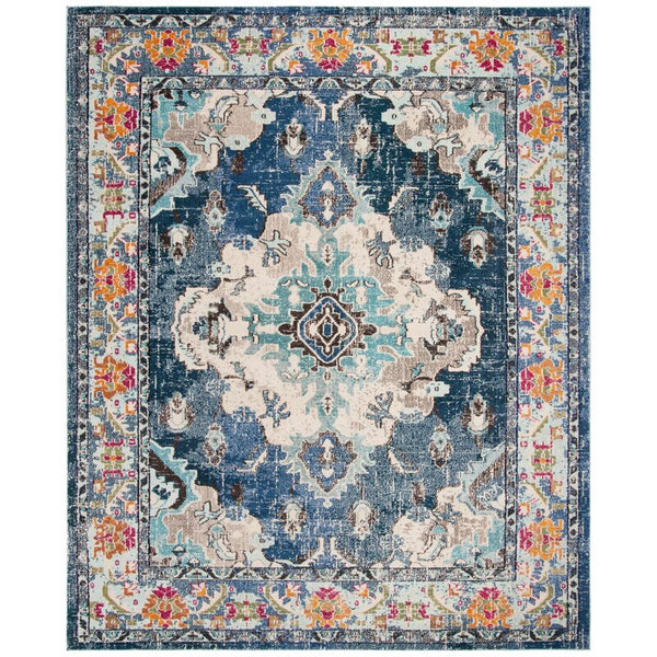 Ponca Oriental Navy/Light Blue Area Rug - 12' x 18'