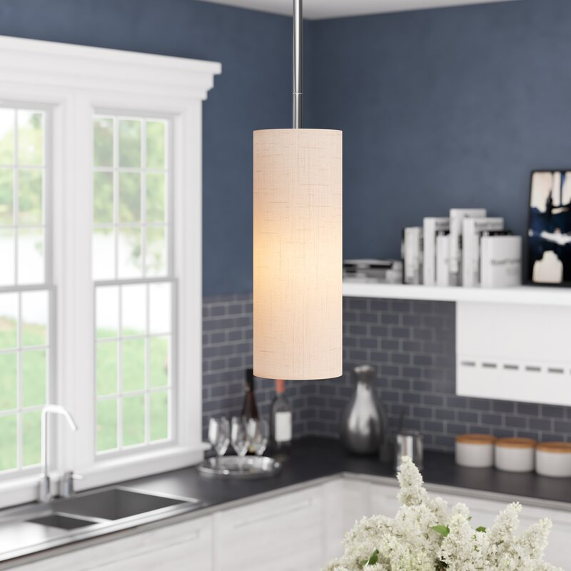 Paquette 1-Light Single Cylinder Pendant