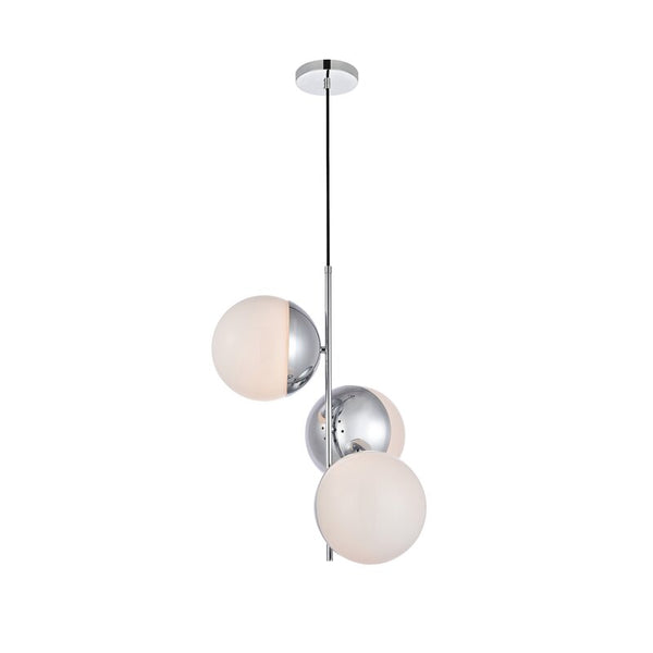 Yearby 3 - Light Unique/Statement Globe Chandelier