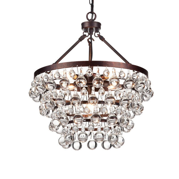 Giovanni 5 - Light Unique / Statement Tiered Chandelier with Crystal Accents
