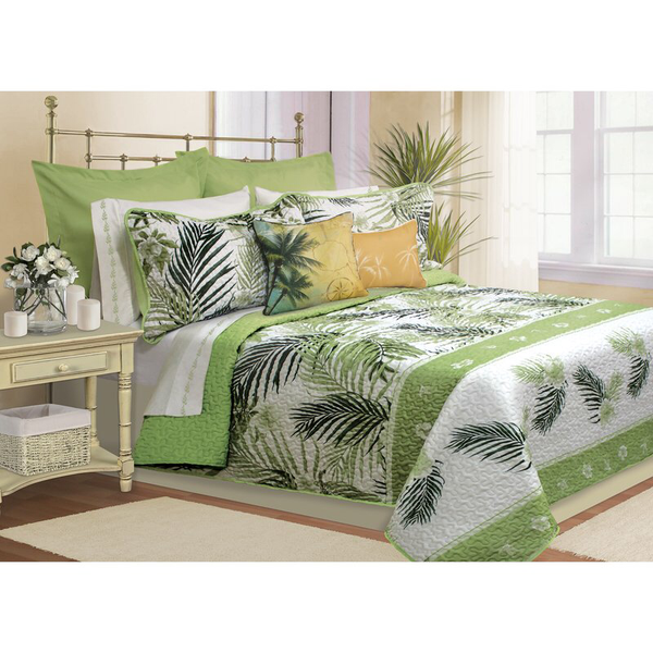 Avaline 4 Piece Twin Quilt Set - Green