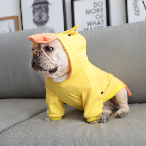French Bulldog Cartoon Yellow Duck Costume - Frenchiely