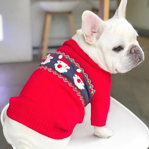 Dog Christmas Santa Clause Sweaters Costume - Frenchiely