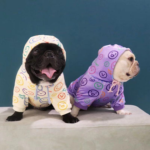 Dog Emoji Winter Hoodie for Frenchies by Frenchiely 0