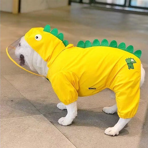 Cartoon Dog Dinosaur Waterproof Rain Jacket Coat