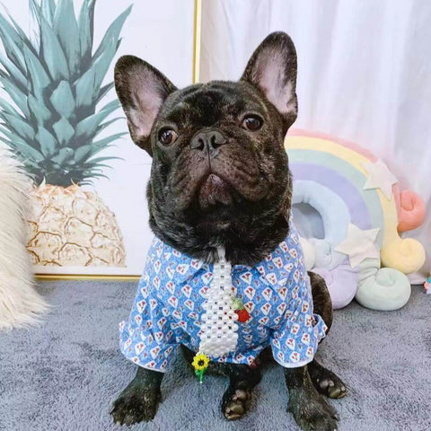 Frenchiely French Bulldog Stylish Hawaiian Shirts