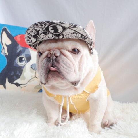 Cartoon Dog Sun Protective Hat for Frenchies - Frenchiely