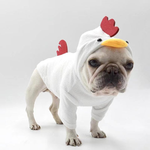 dog rooster costume for french bulldogs
