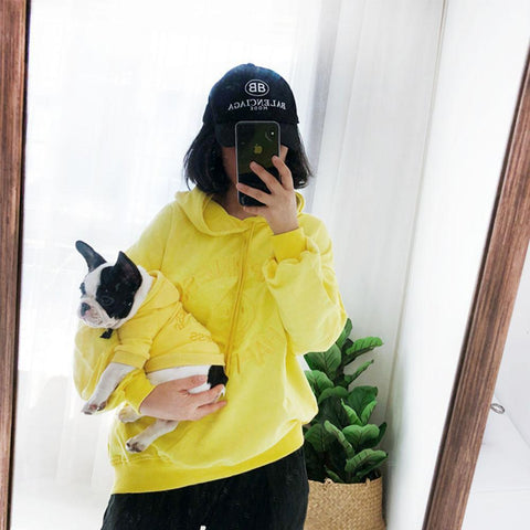 Matching Dog and Owner Hoodies - Emojis - Frenchiely