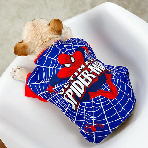 Dog Spiderman Halloween Costume for Medium Dogs - Frenchiely