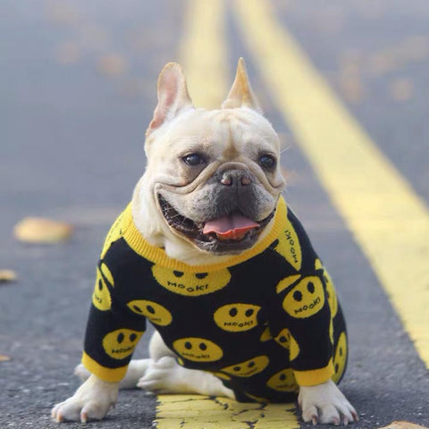 Dog Emoji Pullover Sweater - Frenchiely