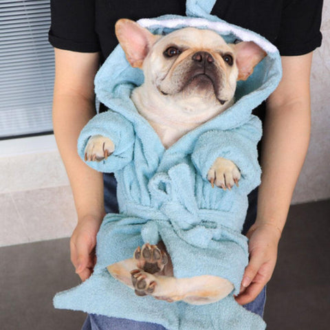 Cartoon Shark Dog Robe Nightgown Towel Pajamas - Frenchiely