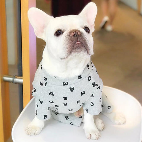 French Bulldog Onesie for Dog with Letters - Frenchiely