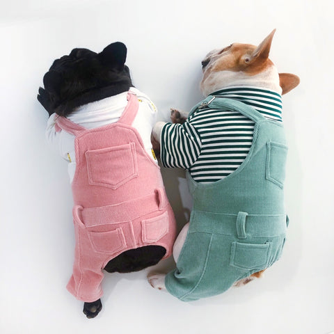Dog Winter Flexible Jumpsuit Overall with Pocket - Frenchiely
