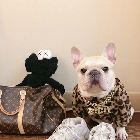 Fluffy Leopard French Bulldog Winter Coat - Frenchiely