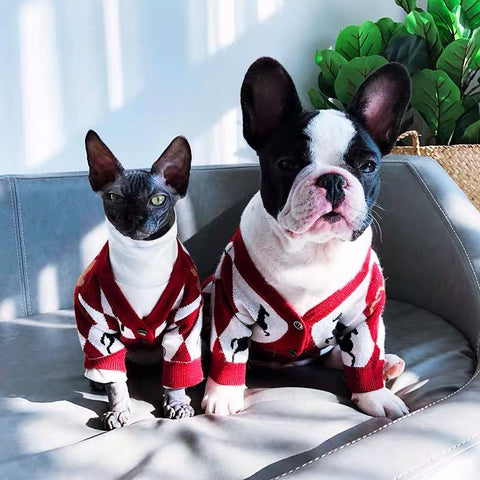 Stylish Dog Cardigan Sweater - Frenchiely