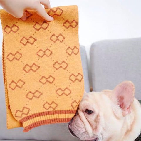 Dog Crochet Scarf for Medium Dogs - Frenchiely
