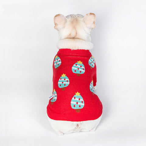 French Bulldog Christmas Tree Sweater Jumper- Frenchiely