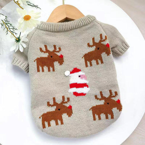 Dog Christmas Reindeer Sweaters Clothes - Frenchiely