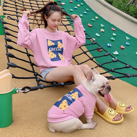 Dog and Human Matching Outfits Shirt 'Cheese'