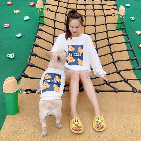Dog and Human Matching Outfits Shirt 'Cheese' - Frenchiely