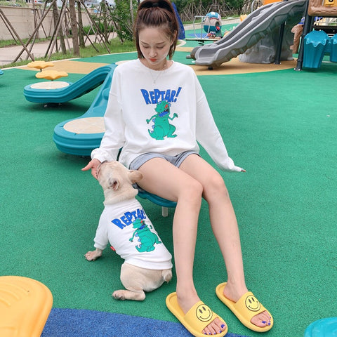 Dog Human Matching Outfits Shirts for Medium Dogs