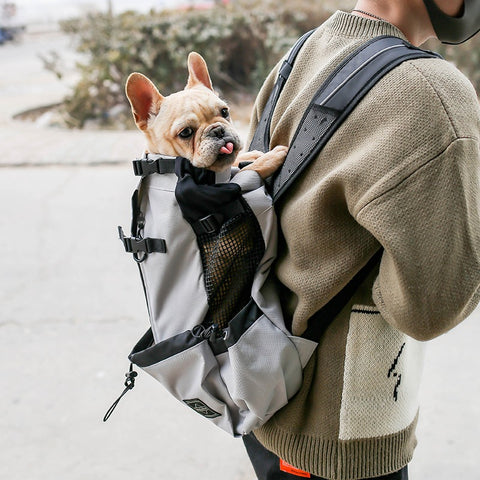 Dog Reflective Outdoor Travel Carrier Bag Backpack