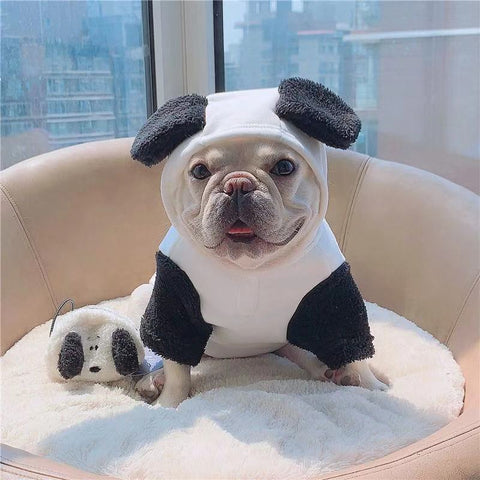Small Medium Dog Panda Costume Winter Jacket Coat- Frenchiely